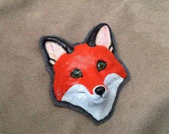 Fox pin ooak