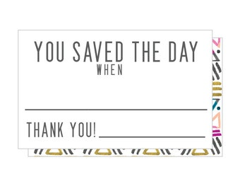 """Set of 9 - Mini """"fill in the blank"""" THANKFUL Notes!"""