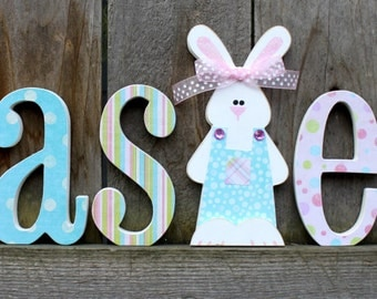 EASTER Wood Letter Decor