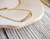 Feather Bracelet Boho Stacking Bracelet Minimalist Bracelet Simple Design Golden Feather Lightweight Delicate Jewelry