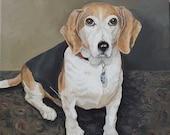 Dog Portrait, Beagle Portrait, Pet Portraits, Family member, gift