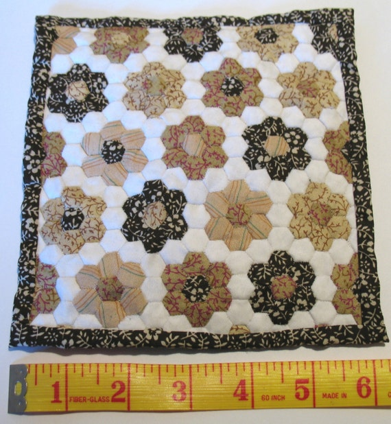 dollhouse brown quilt