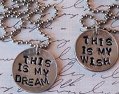 Goonies Movie Inspired This Is My Wish This Is My Dream Charm Necklace