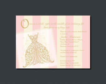 Printable - Once Upon A Time - Fairy Tale Bridal Shower or Party Invitations