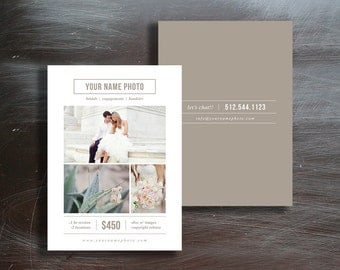 Sale! Photography Mini Session Pricing Guides - Photo Marketing Templates - Digital Photoshop Designs - Design By Bittersweet