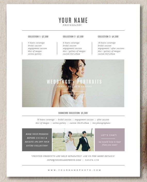 photography pricing template photography pricing template
