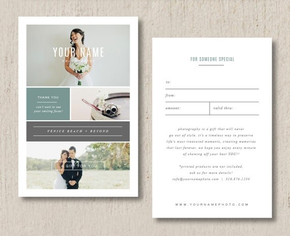 Wedding Gift Card Format : Photographer Gift Card Template - Wedding Photography Marketing ...
