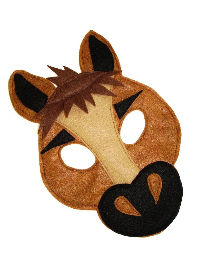Children's HORSE Farm Animal Felt Mask