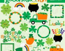 Buy 2, Get 1 FREE - St Patrick's Day Fun Clipart - Digital St Patrick's Day Clipart - Instant Download