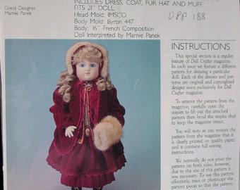 """21"""" Poissot Pattern fits  Steiner, other Antique Type Dolls"""