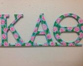 Kappa Alpha Theta Greek letters big little sorority wall decor