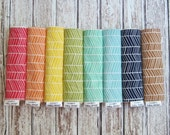 3 Herringbone Baby Burp Cloths with Minky Back, Joel Dewberry Herringbone Fabric Baby Burp Cloths, Pick from 8 Colors by Modern Baby Design