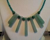 Green Adventurine Malachite Necklace