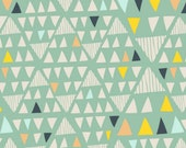 Art Gallery - Morning Walk Collection - Mojave in Aloe - Fat Quarter