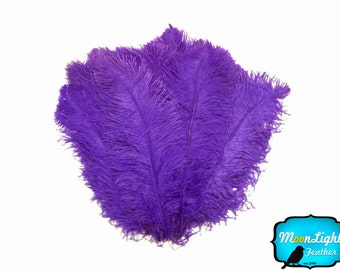 "Wedding Centerpiece Feathers, 1/2Lb - 25-29"" Purple Large Wing Plumes Wholesale Feather (Bulk) Swa : 4218-D"