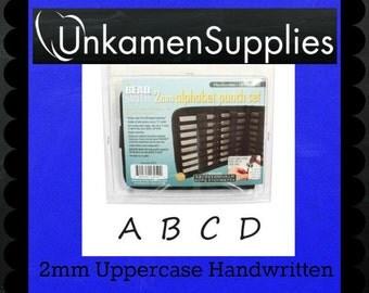 Best Letter Punch Set - 2mm Upper Case Handwritten - Stamping Disc Sample Included