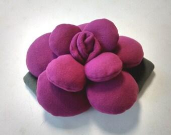 Burgundy Red Rose throw pillow