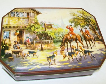 SALE - Vintage English Candy Tin, Daintee Confectionery Co., Blackpool, England, decor