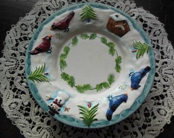 Christmas Birds Trinket Dish