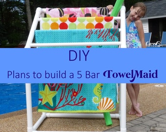 DIY Plans to build 5 Bar Towel Rack