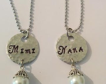 Grandma Stamped Necklace