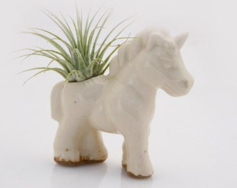air planter - ceramic unicorn - planter desk cute - air planter gifts - Air plant holder - small cute planter - airplant planter
