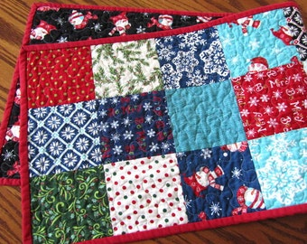 Reversible Moda Quilted ChristmasTable Runner-  Be Jolly by Deb Strain