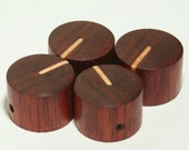 Set of 4 Bloodwood Guitar Knobs with Maple Line Indicator (7/8d x 9/16h)
