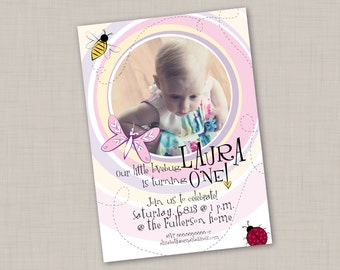 LoveBug Birthday Invitation (Vertical) -- Print Your Own