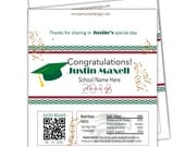 Graduation Candy Wrappers/Hershey Candy Bar Wrappers/Grad Party Wrappers/Chocolate Bar Wrappers
