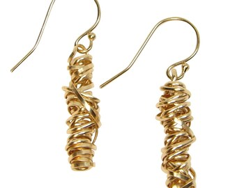 Gold-fill Twisted Wire Earrings