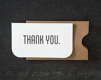 mini: thank you. letterpress card. #727