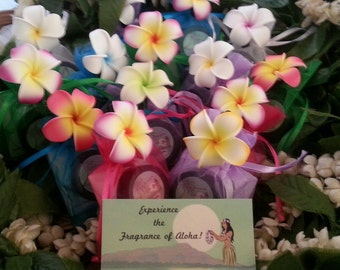 Hawaiian Luau, Wedding Favors, Party Favors, and Gifts with Fragrance of a Fresh Hawaiian Lei (Natural and Paraben Free)