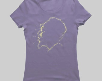 Thelonious Monk - Women's T-Shirt - Cream on Shady Navy (Griot Apparel)