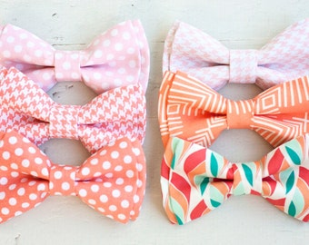 Bow Tie, Boys Bow Tie, Bow Ties, Baby Bow Ties, Bowtie, Bowties, Ring Bearer, Blush Bow Ties, Peach Bow Ties - Blush And Peach Collection