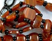 Large Carnelian Two Hole Beads 60% off, qty 33
