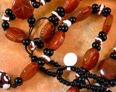 Large Carnelian Two Hole Beads 60% off, qty 22