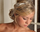 Birdcage Veil - Classic Russian Net Birdcage - Ivory, White or Black