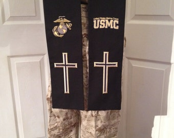 USMC Military Chaplain Clergy Stole