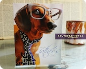 FATHERS DAY Dachshund Card - Blank inside