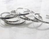 Personalized Custom Silver Bracelet Bangle Handstamped Engraved - Simple Sleek Stackable