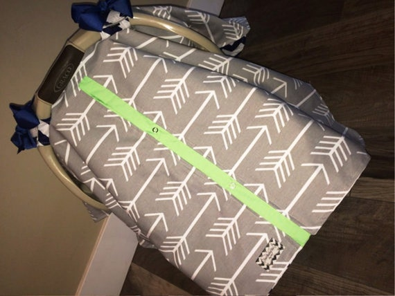 Carseat canopy Gray Arrow Navy and Mint  / Car seat cover / car seat canopy / carseat cover / carseat canopy / nursing cover