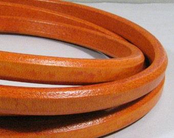 Regaliz Licorice Leather - Distressed Orange - RM16 - Choose Your Length