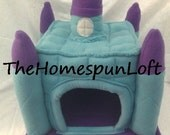 Floorless Hedgehog Fleece Castle House Without Floor This is a Made to Order Item Only