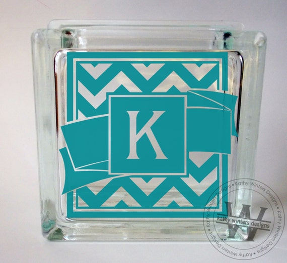 vinyl lettering for glass vinyl lettering glass block decal chevron by kwintersdesigns 15847