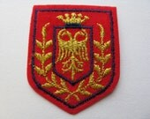 military jacket patch double eagle patch 70s mason crested imperial eagle uniform appliqué new old stock.