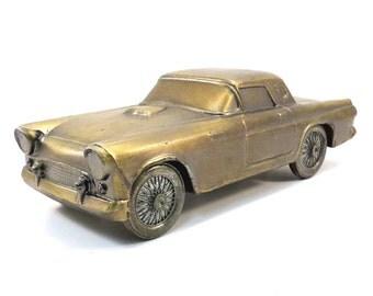 1955 Ford Thunderbird Banthrico Automobile Vintage 1970s Car Coin Bank