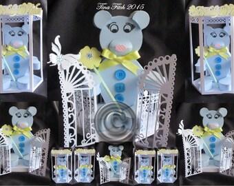 3D Teddy & Box Cutting file template,