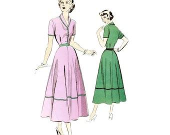 1940s Shirtwaist Dress Pattern Advance 5163 B32 Sz 14