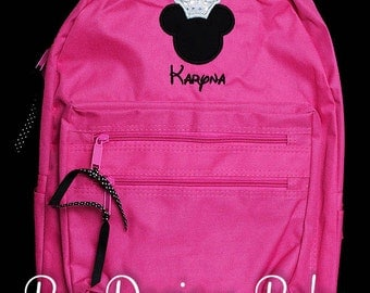 Minnie Backpack, Minnie Mouse Backpack, Personalized Backpack, Monogrammed Backpack, Choose your own colors and fabrics